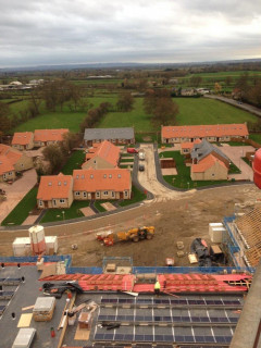 The high-level shots show the progress at Mickle Hill.