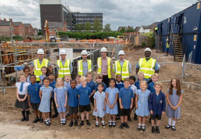 Termrim Construction and Care UK with school students in Sale, Greater Manchester